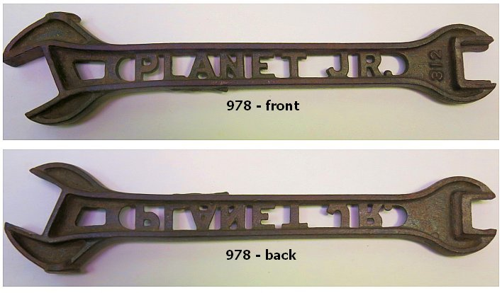 Fall 2015 Wrenching News Auction -  - Rare Planet Jr. No. 312 cutout wrench