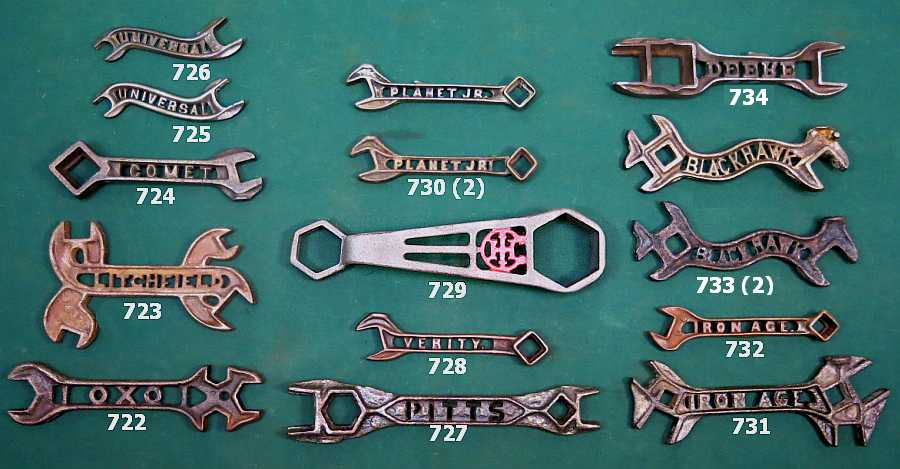 Spring 2015 Wrenching News Auction Farm Wrenches with Cut Out Letters - Spring 2015 Wrenching News Wrench Auction
