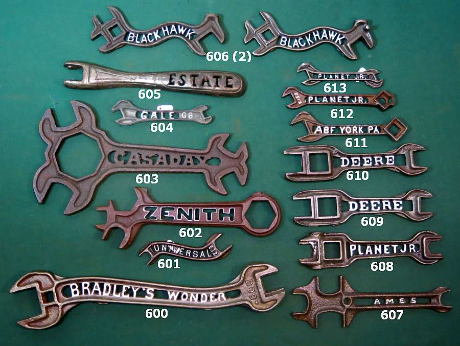 Spring 2016 Wrenching News Auction -  - Rare cutout letter farm wrenches
