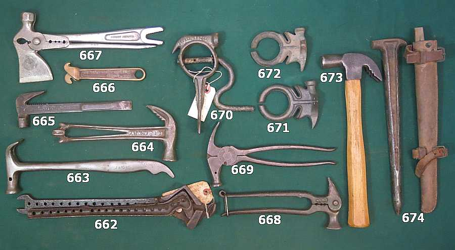 Spring 2016 Wrenching News Auction -  - Rare combination wrenches and fencing tools