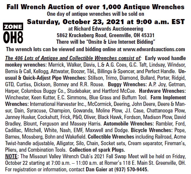 2021 Fall Wench Auction Flyer